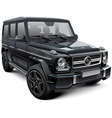 Mid size luxury SUV vector image vector image