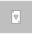 Hearts card computer symbol vector image
