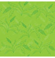 seamless green pattern with green plants vector image