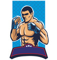 mma fighter vector image