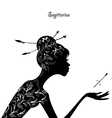 Zodiac sign sagittarius fashion girl vector image vector image