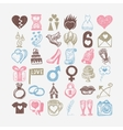 36 hand drawing doodle icon set wedding sketchy vector image