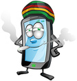jamaican fun mobile cartoon vector image