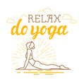 Yoga and sport motivation banner vector image