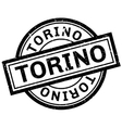 Torino rubber stamp vector image