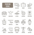 Tourism icons set of pictogram vector