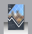 blue annual report brochure flyer design template vector image vector image