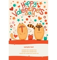 Valentine day cats vector image