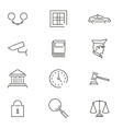 Modern Line Law Legal Justice Icons and Symbols vector image