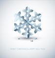 light blue paper christmas snowflake vector image