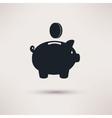 Piggy Bank Ping Circle Icon Flat vector image
