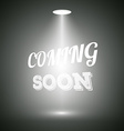 Vintage Style Coming Soon Dark Announscement vector image