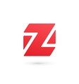 Letter Z number 2 cube logo icon design template vector image