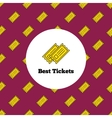 logo Yellow theater or cinema tickets vector image