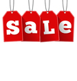 Red Sale Tags vector image