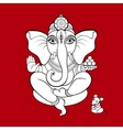 Ganesha and mouse vector image