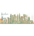 Abstract London Skyline with Color Buildings vector image