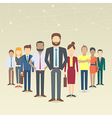 Set of business people vector image