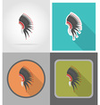 wild west flat icons 02 vector image