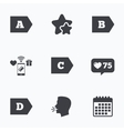 Energy efficiency class icons vector image