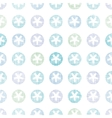Abstract Textile Snowflakes Dots Seamless Pattern vector image