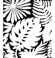 Black and white watercolor leaves pattern vector image