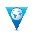 camera icon map pointer blue vector image