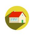 circle house icon isolated on white background vector image