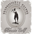 Golf professional player vector image