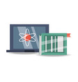 laptop to study and book education learn vector image