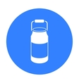 Milk cans icon black Single bio eco organic vector image