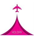 Simple holiday background with airplane vector image