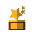 stars trophy awards shadow vector image
