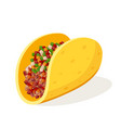 tacos single object vector image