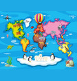 wild animals from all over the world vector image