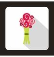 Wedding bouquet icon flat style vector image