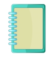 Blank spiral notebook icon cartoon style vector image
