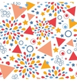 Abstract celebration seamless pattern background vector image