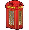 British Phone Booth vector image