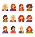 Set of female avatars vector image
