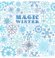 Card with Snowflakes vector image vector image
