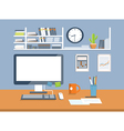 Interior office roomflat design style vector