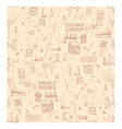 scribbles pattern vector image