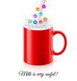 Useful milk vector image vector image
