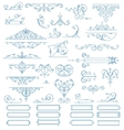 Baroque Ornaments Design Set vector image vector image