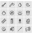 line firefighter icon set vector image