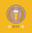 beer logo and sign vector image