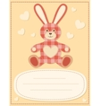 Card with the hare for baby shower 2 vector image