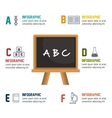 cartoon infographic education board isolated vector image