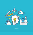 creativity creation thinking implement ideas vector image